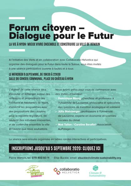 dialogue pour le futur